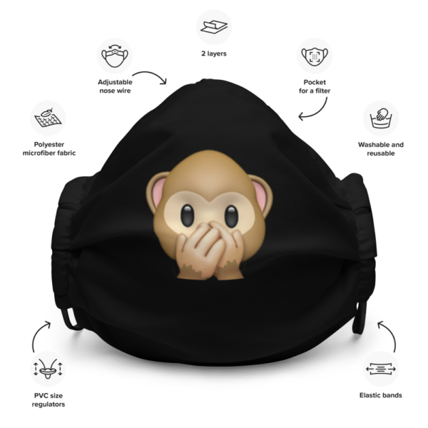 Monkey Emoji Face Mask