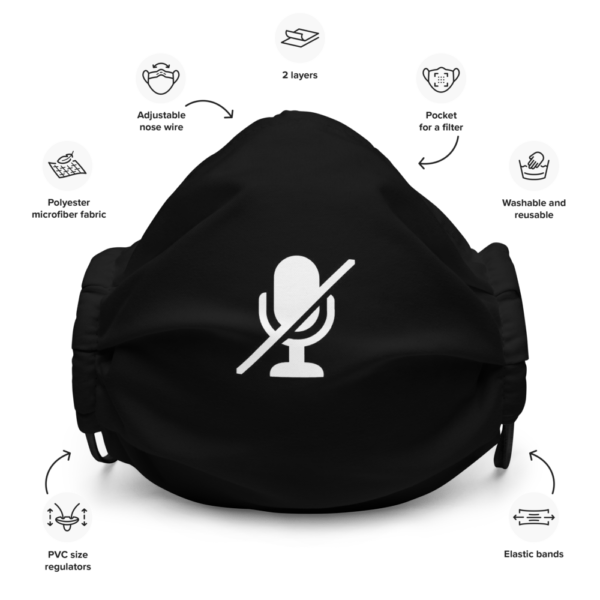 Microphone Mute Face Mask